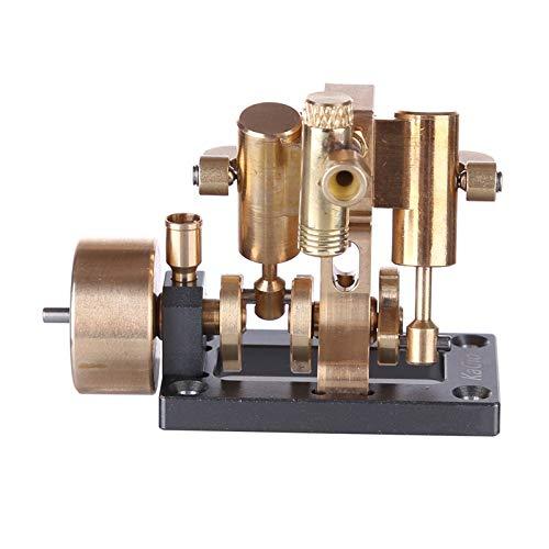 Modelo de Motor Stirling Mini Modelo de motor de vapor de swing de doble cilindro en línea para dentro de 40 cm Modelos de bote retro Physics Steam Power Toy (sin caldera) para el Aprendizaje