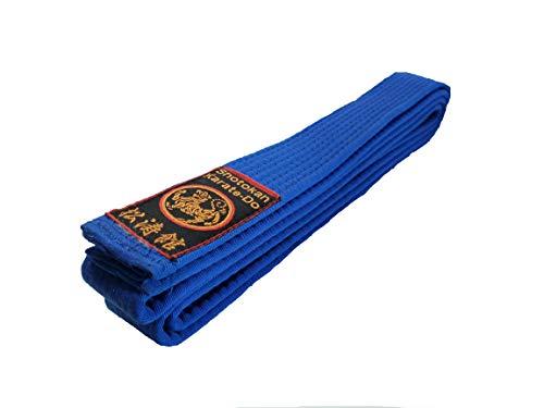 Budodrake Karategürtel blau Shotokan Label Blaugurt (240)