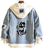 YOYOSHome Anime JoJo's Bizarre Adventure Denim Jacket Hoodie Costume Sweater Fleeces