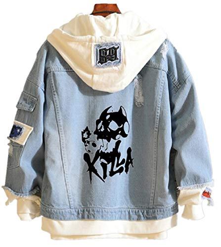 YOYOSHome Anime JoJo's Bizarre Adventure Denim Jacket...
