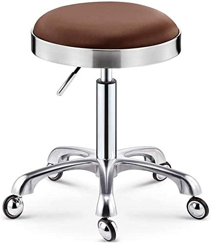 Courier shipping free shipping Bar Manufacturer direct delivery Stool PU Leather Round Rolling Rotating Sa Adjustable