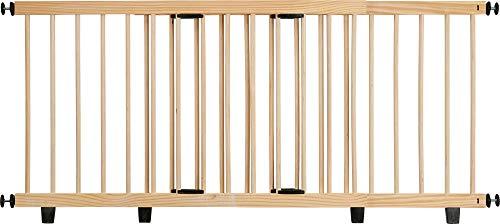 ib style® Timber Absperrgitter |Türgitter | zum Klemmen | 110-200cm