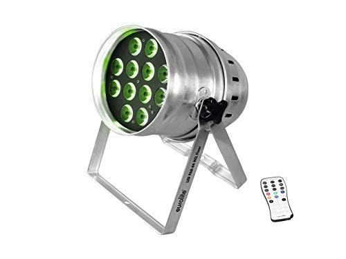 EUROLITE LED PAR-64 HCL 12x10W Floor sil | PAR-Scheinwerfer mit 12 x 10-Watt-6in1-LED in R, G, B, A, W, UV