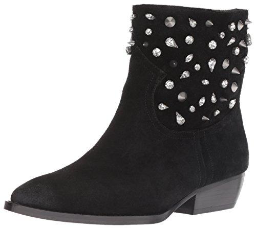 Sam Edelman Women's Avril Fashion Boot, Black Suede, 6 M US