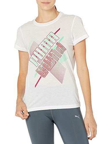PUMA Damen Graphic Crew T-Shirt Hemd, Weiß-q1 PRT, Klein