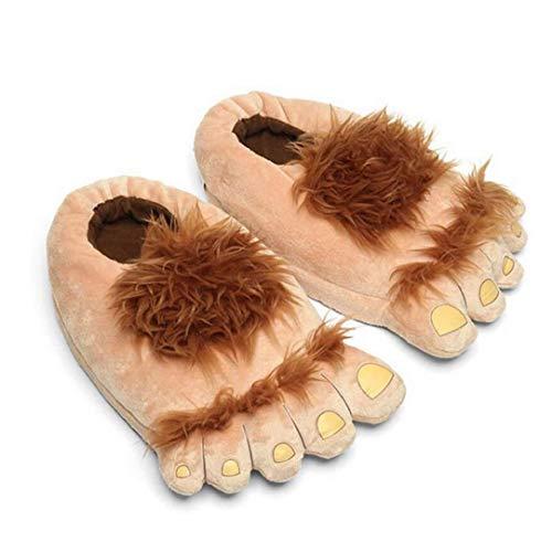 Monster Zapatillas Zapatillas Novedad Invierno pies Grandes Zapatillas Creativo Bigfoot Zapatos Calientes Pies Invierno Hobbit Indoor Shoes para Adultos de los niños