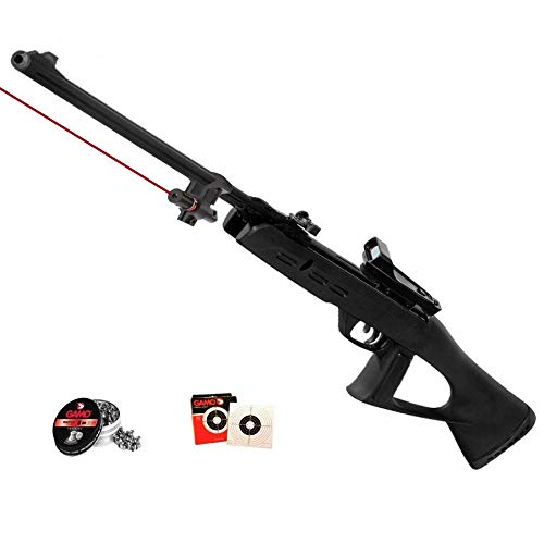 Gamo Táctical - Pack Escopeta/carabina de Aire comprimido (Muelle) Delta Fox GT de perdigones o balines + láser y Visor holográfico