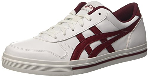 Asics Aaron, Herren Low-top, Weiß (White/Burgundy), 44.5 EU