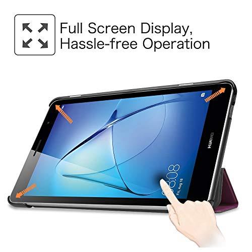 Fintie Huawei Mediapad T3 8 Hülle Case - Ultra Dünn Superleicht SlimShell Ständer Cover Schutzhülle Tasche mit Zwei Einstellbarem Standfunktion für Huawei T3 20,3 cm (8,0 Zoll), Lila - 2