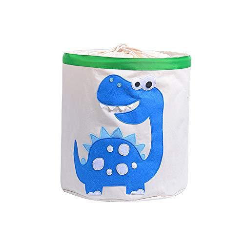 Meltset Cesta de juguetes para niños, grande, cesta para la colada, cesta de tela para ropa sucia, plegable e impermeable azul azul Dinosaurio Talla:talla única