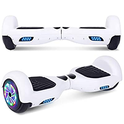 "UNI-SUN Hoverboard for Kids, 6.5"" Self Balancing Hoverboard with Bluetooth and LED Lights, Bluetooth Hover Board"