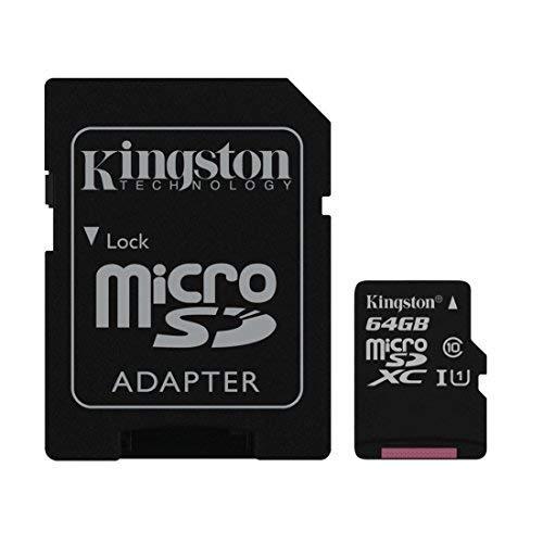 Kingston 64 GB Micro-SD-XC-Speicherkarte Klasse 10 für HTC One M8 Handy