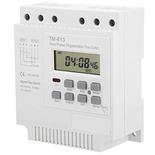 380V programmierbares Zeitrelais,Zeitschaltuhr Zeitrelais,Intelligentes wöchentliches programmierbares Zeitrelais,drei Phasen 380V Steuerleistungszeitschaltuhr