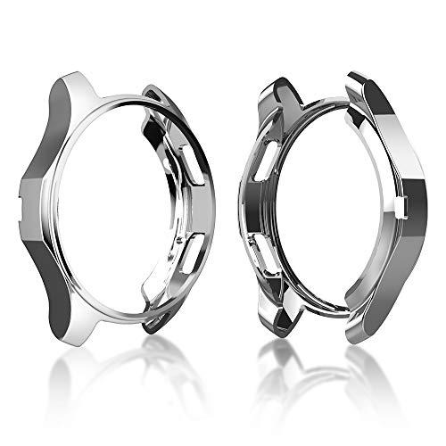 Cerike Fall für Samsung Gear S3, Shock-Proof und Shatter-Resistant TPU Schutzhülle für Samsung Gear S3 Frontier SM-R760 (Silber)