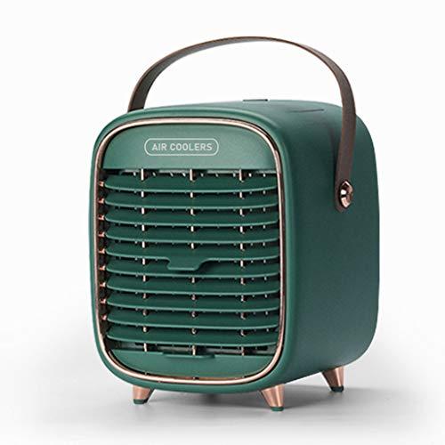 Y-POWER Ventilador portátil con ventilador recargable con 3 velocidades, inalámbrico, mini ventilador de escritorio silencioso con asa para habitación pequeña, oficina, dormitorio y exterior