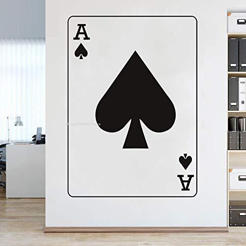JXLLCD Spades Ace Kartenspiel Wandaufkleber Home Decoration Sofa Hintergrund Kopfteil Schlafzimmer Tapete Wohnzimmer Schach Poker Kunst Wandbild 56x78cm