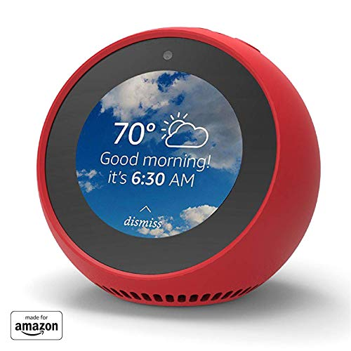 """Made for Amazon"" Mission Cables Skin for Echo Spot - Candy Red"