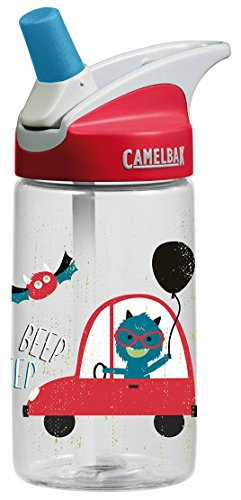 CamelBak Eddy 0.4-Liter Kids Water Bottle –  - CamelBak Kids Big Bite Valve - Spill Proof-  - Water Bottle For Kids - BPA-Free Water Bottle – 12 Ounces, Rad Monsters, Bottle Only