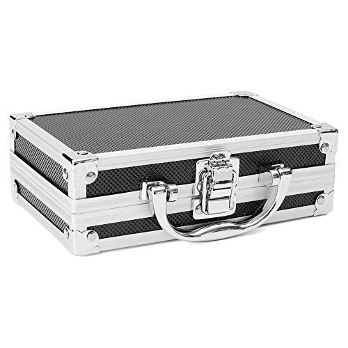 FUVOYA Caja de Aluminio Universal,Caja de Herramientas de Aluminio pequeña con Material de Espuma Protectora Size 180 * 110 * 55mm