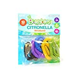 PIC Bugables Citronella Scented Coil Wristbands, Reusable and Resealable, One Size Fits All (Pack of 10)