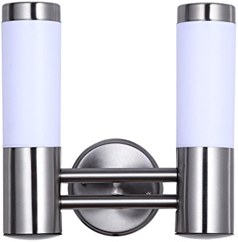 LED Acryl Wandleuchten, 1 2 Lichter im Freien wasserdichte Edelstahl beleuchtet Gang Hngelampe Wandleuchte amerikanischen Hof Balkon Garten Wandlampen (Design   2 Kpfe)
