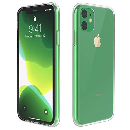 PfX Funda transparente para iPhone 11 edición especial de silicona TPU con protección contra el polvo integrada Ultra-Slim