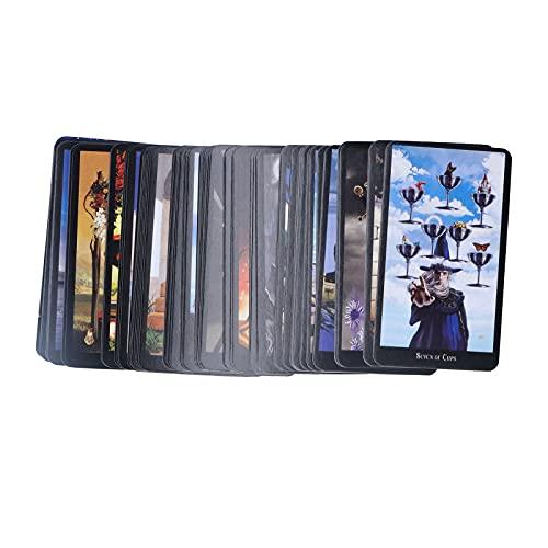 Yisenda Tarotkarten, einzigartige 78 Karten Brettspiel Tarotkarten für Anfänger für Game Party