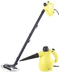 Sichler Haushaltsgeräte Dampfgerät: 2in1-Hand-Dampfreiniger, Dampfmopp & -Besen, 13-tlg. Zubehör, 1.050W (Handdampfgerät)