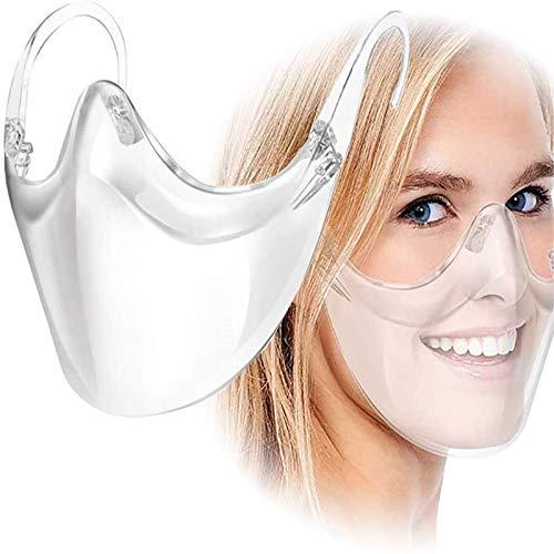CZYSKY Viseras faciales con gafas, viseras faciales, reutilizables, antivaho e impermeable, cubierta facial cómoda y ligera, hace que la sonrisa sea más brillante 1 pieza