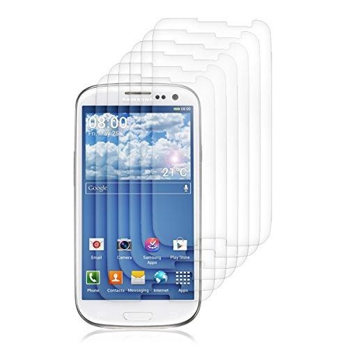 kwmobile 6X Folie kompatibel mit Samsung Galaxy S3 / S3 Neo - klare Bildschirmschutzfolie Bildschirmschutz transparent Bildschirmfolie Schutzfolie