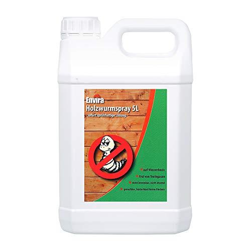 Envira Holzwurm-Spray - Holzwurm Ex Gegen Holzschädigende Insekten Mit Langzeitschutz - Auf Wasserbasis - 5 Liter