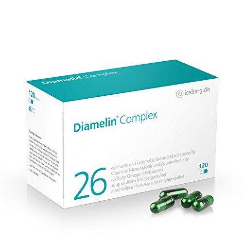 Diamelin Complex - 26 Mikronährstoffe speziell für Diabetiker entwickelt z.B. mit natürlichen pflanzlichen Extrakten wie Zimt und Bittermelone plus wichtige Bakterienkulturen und Chrom - Diabetes