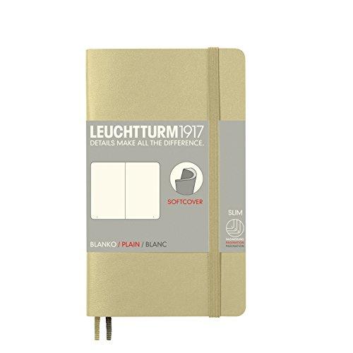 LEUCHTTURM1917 355309 Notizbuch Pocket (A6), Softcover, 123 nummerierte Seiten, blanko, Sand