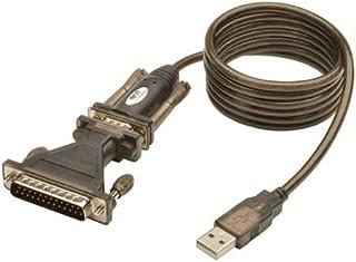TRIPP LITE USB to RS232 Serial Adapter Cable USB-A to DB25 DB9 M/M 5-Feet (U209-005-DB25)