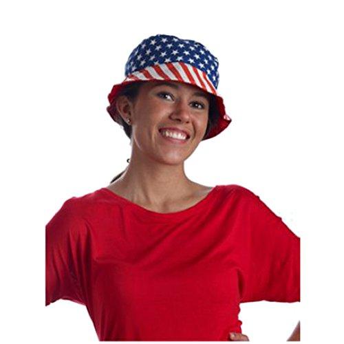 MyPartyShirt American Flag Bucket Hat