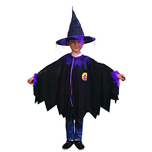 Westeng 1/Set Capa de Halloween para Niño Mago Capa con Capucha Fiesta Disfraces Size 60cm