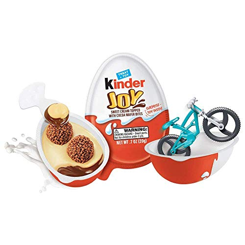 Kinder Joy - FOUR pack 20g Chocolate Cream Eggs with Toy - Imported from Germany