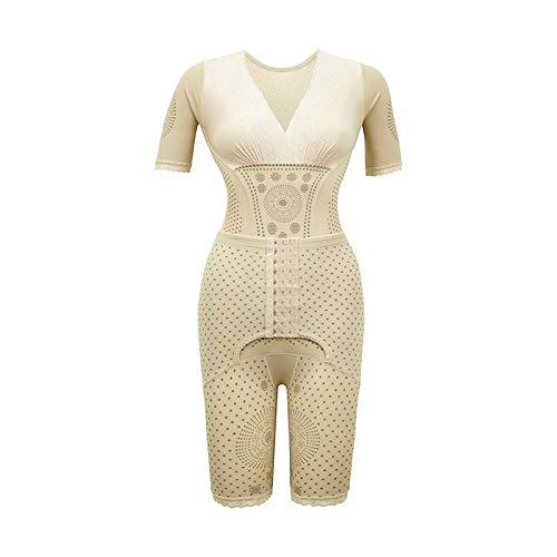 Eantpure Damen stark formend,Bauch nach der Geburt, Taillenformung, Abnehmen nach Anion-Beige_2X_Large,Top Unterbrustkorsett
