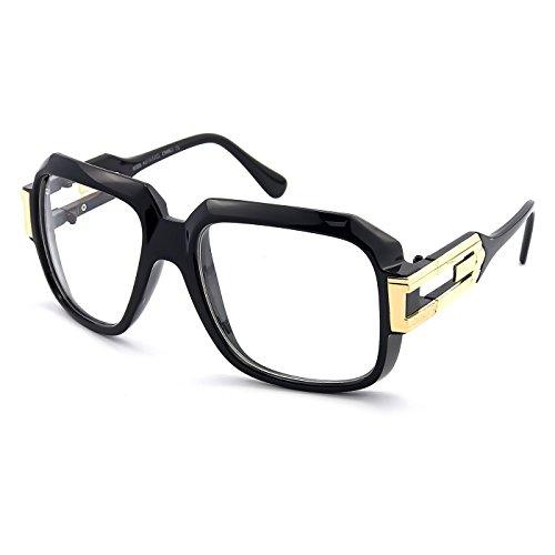 Kiss Neutrale Brille OLD SCHOOL mod. BURST - optischer rahmen HIP-HOP mann frau VINTAGE - SCHWARZ