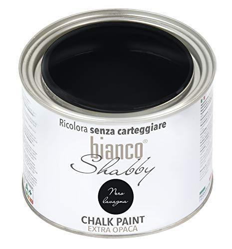 Chalk Paint - Pintura negra Shabby Chic vintage para muebles y paredes extra mate (500 ml)