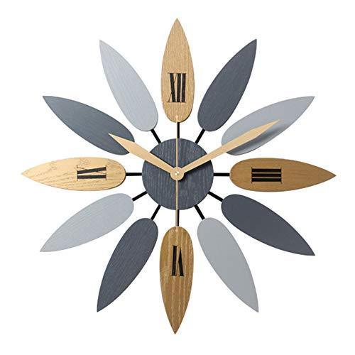 WXHXSRJ Reloj de Pared nórdico Creativo, Reloj de Pared Grande silencioso, para Cocina/Dormitorio/Sala de Estar/oficina-52CM