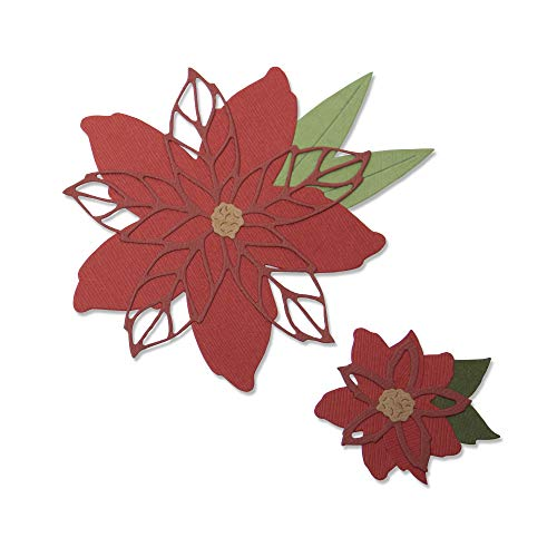 Sizzix Poinsettia By Lisa Jones Dies, us:one size, Multicolor