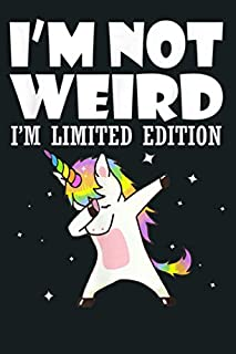 scheda unicorn i m not weird i m limited edition: notebook planner - 6x9 inch daily planner journal, to do list notebook, daily organizer, 114 pages