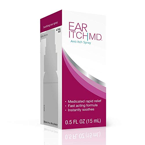 Ear Itch MD Anti-Itch Relief Spray, Maximum Strength Therapeutic Ear Drops