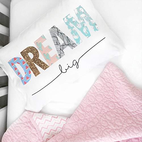 'N/A' Dream Big - Funda de almohada con cremallera oculta para sofá, cama, sofá y sofá