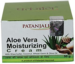Aloe Vera Moisturizing Cream 50g With Shea Butter, Coconut, Wheat Germ & Olive Oil A Product Of Patanjali Ayurved