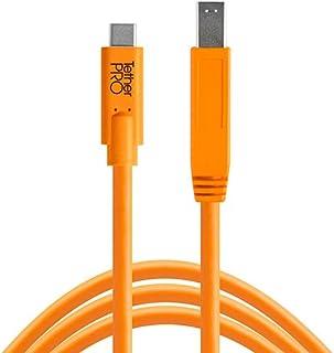 Tether Tools TetherPro USB-C to 3.0 Male B Bağlantı Kablosu 15' (4.6m) DSLR Kamera, Turuncu