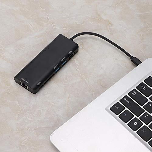 Estación de Acoplamiento USB Estación de Acoplamiento Gigabit Estable Estación de Acoplamiento Tipo c Estación de Acoplamiento 6 en 1 para PC para Escritorio para computadora