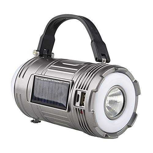 Ajing Linterna LED recargable, linterna de camping multifuncional brillante, luz de búsqueda al aire libre, linterna de haz de alta potencia, luz de emergencia ligera de 1800 mAh