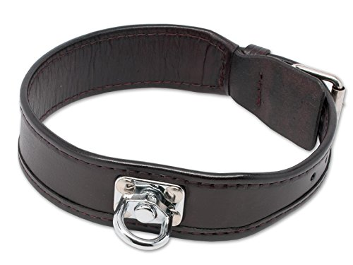 Mystique Schweißhalsband Schweisshalsband aus Leder - braun 55cm